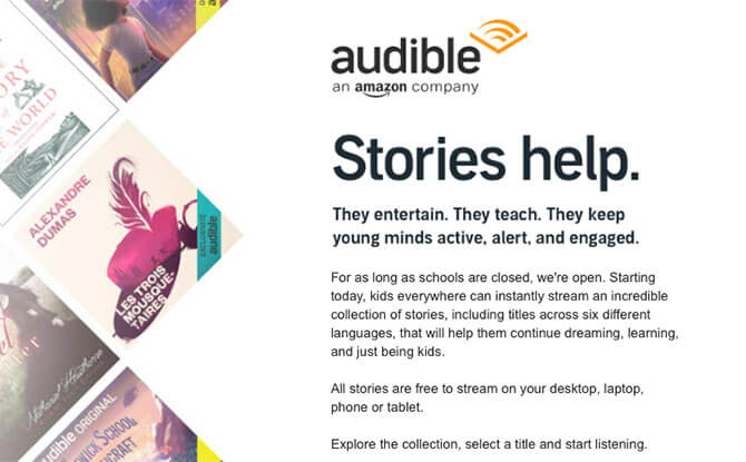 Amazon's Audible Is Streaming A Collection Of Books For Children For Free