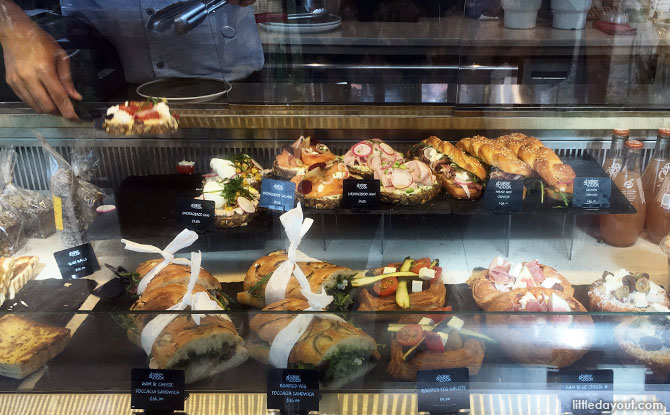 Savoury options at Baker & Cook, Dempsey