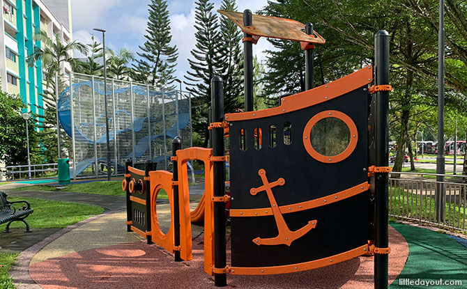 Things to Do at Bukit Batok East Ave 4 Neighbourhood Space: Swings and Pirate Ship