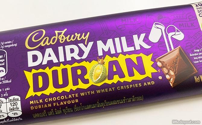 Cadbury Durian Chocolate Bar Now Available At NTUC Fairprice