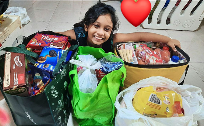 Shakthi's Care & Share Corner: 7-Year Old Helping To Spread Kindness In The Community