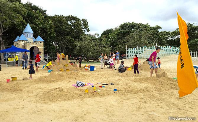 Castle Beach, Activities for kids at East Coast Park.