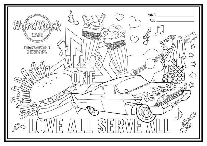How to Take Part in the Hard Rock Cafe Colouring Contest