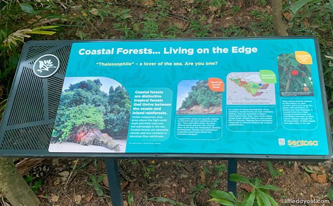 Costal walk sign
