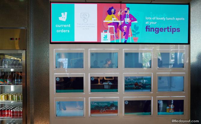 Digital cubbyholes at Deliveroo Food Market