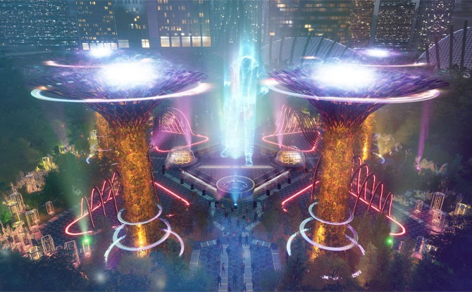 Gardens By The Day Releases National Day Virtual Performance Held In Digital Twin