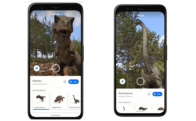 Encounter Dinosaurs From Jurassic World In Your Living Room In AR With Google Search