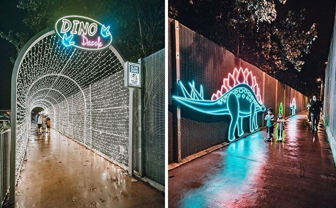 Jurassic Mile Turns On The Dino Dazzle For The Holidays
