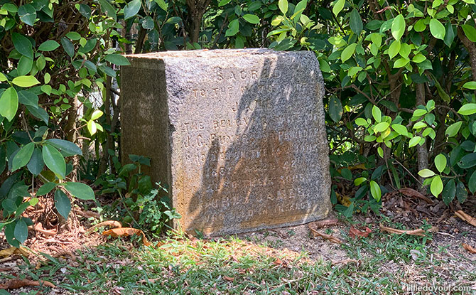 Little Stories: The Gravestone Of Jane Buyers At Rower's Bay