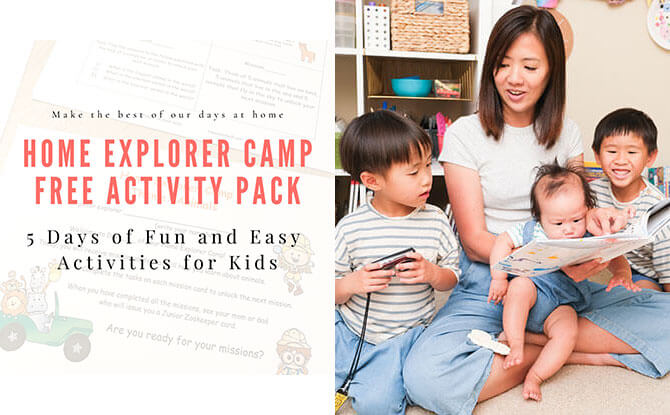 Happy Tot Shelf's Home Explorer Camp Activity Pack: Themed Stay-At-Home Learning Activities For Kids