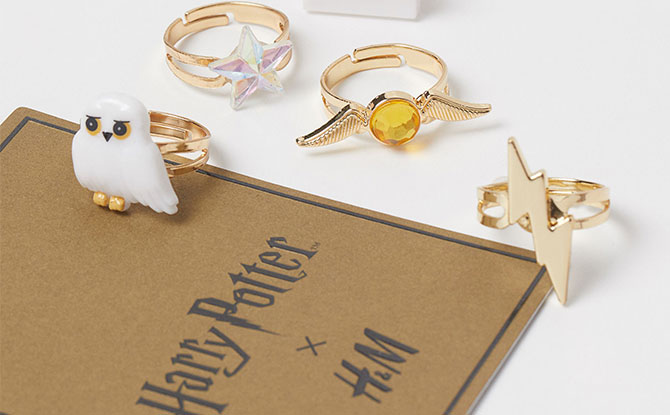 harry potter hnm collection rings