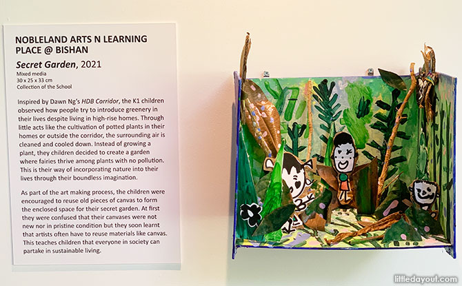Art by Preschoolers at Singapore Botanic Gardens Exhibition