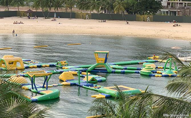 Inflatable Water Park At Palawan Beach, Sentosa