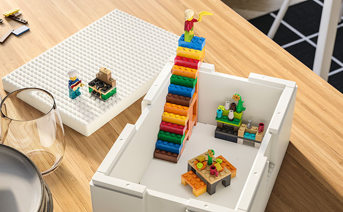 BYGGLEK: IKEA Storage Boxes With LEGO Studs To Encourage Play