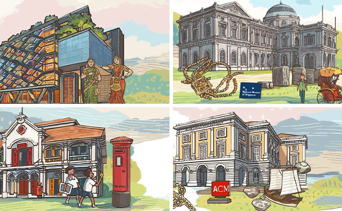 Heritage Institutions Mark International Museum Day With Cute Illustrations By Pok Pok & Away