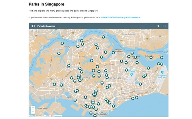 Locate a park in Singapore - Interactive Park Map