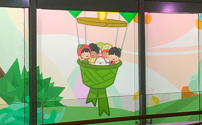 Hot Air Ketupat Balloon - Show at ION Sky at ION Orchard