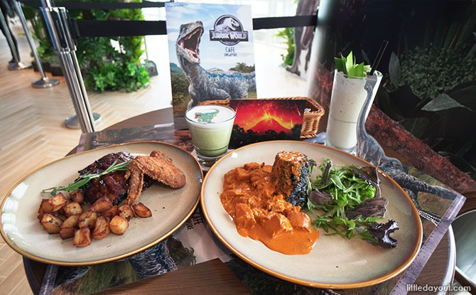Jurassic World Café Singapore Dinosaur mains