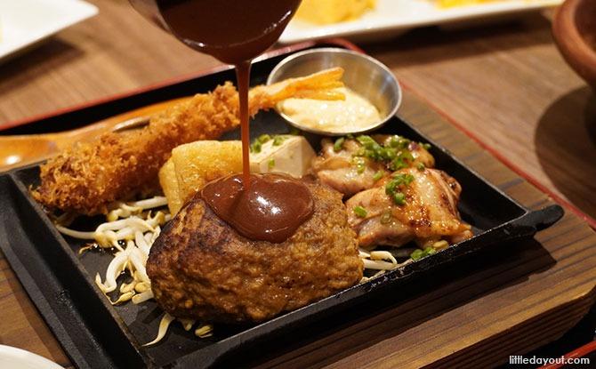 Keisuke Prime Beef Hamburg Set with the Keisuke original sauce