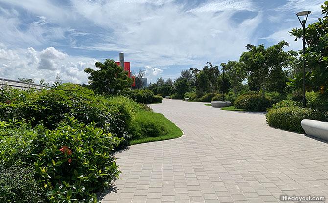 The Keppel Marina East Desalination Plant's Promenade