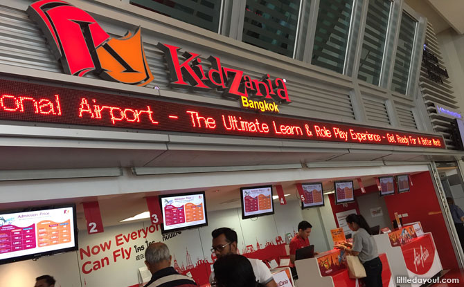 Booking tickets to KidZania Bangkok