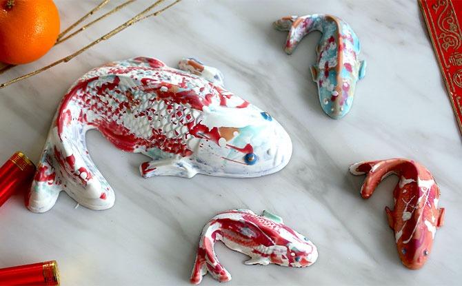 Janice Wong Hand-Painted Chocolate Koi