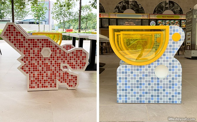 KouFu Food Court In Woodlands Has Traditional Playground-Inspired Kids Seating