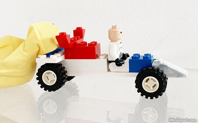 Balloon-Powered LEGO Go Kart