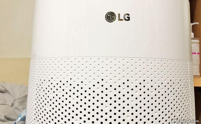 LG PuriCare 360°'s distinct cylindrical shape