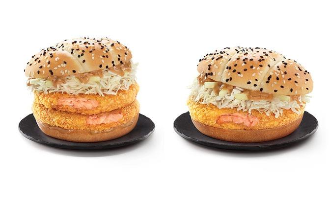 McDonald's Hokkaido Salmon Burger