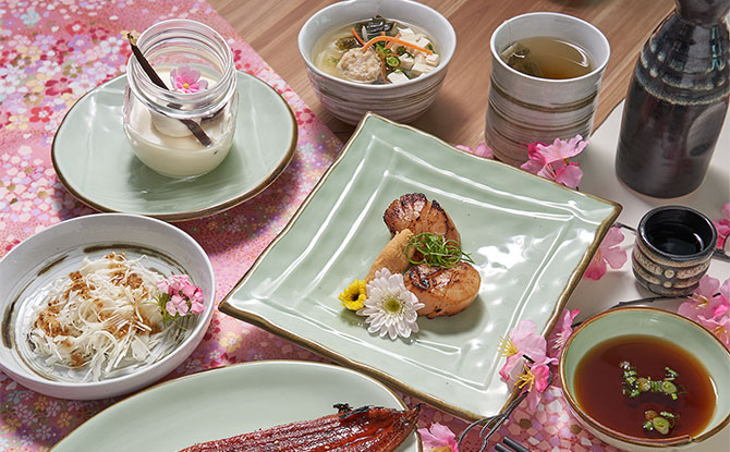 Curated Japan Cuisine Meal on the Fly Me To Japan Dining Experience