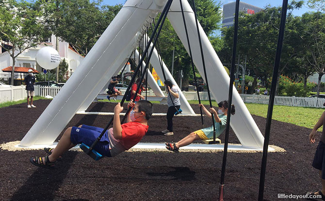 Musical Swings At Dhoby Ghaut: Unlock Music Together With This Playground Favourite