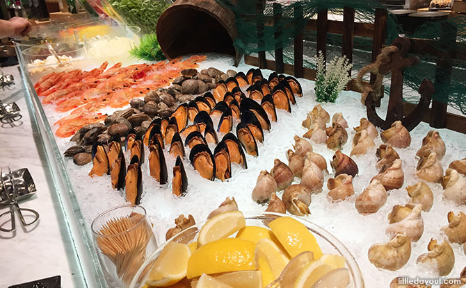 Seafood at The Orchard Cafe, Orchard Hotel Singapore