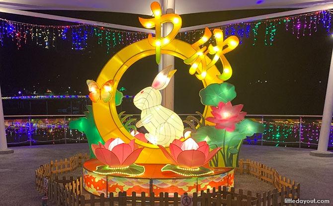 Pang Sua Pond Mid-Autumn Festival 2021 Light-up Rabbit Display