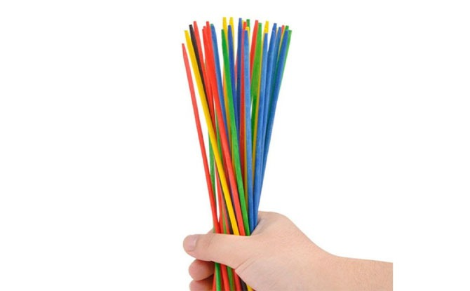 What you need to play Pick Up Sticks