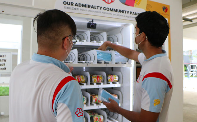 Project Pick Me Up: Vending Machine At Admiralty Dispenses Essentials For Those In Need