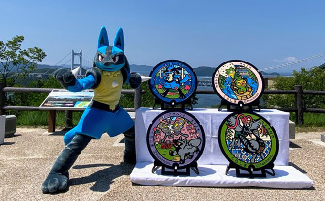 Four New Pokemon Manhole Covers Unveiled In Okayama Prefecture