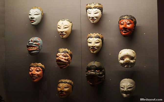 Masks collected by Raffles