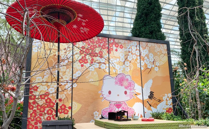 Gardens By The Bay's Sakura Floral Display 2021: Pretty In Pink With Hello Kitty