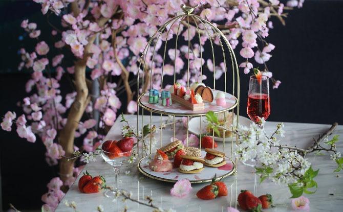 2am Strawberry Sakura High Tea