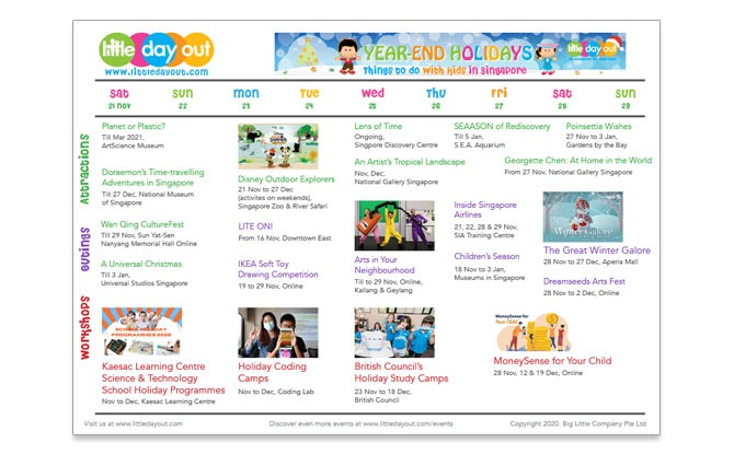 Guide To The November-December School Holidays 2020 In Singapore