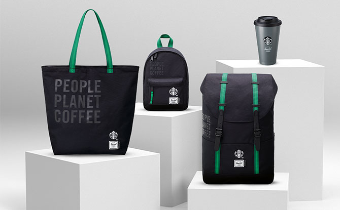 Starbucks x Hershel Supply Have Merch Made From Recycled Coffee Grounds