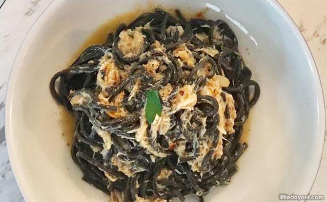 Granchio with Handmade Squid Ink Spaghetti