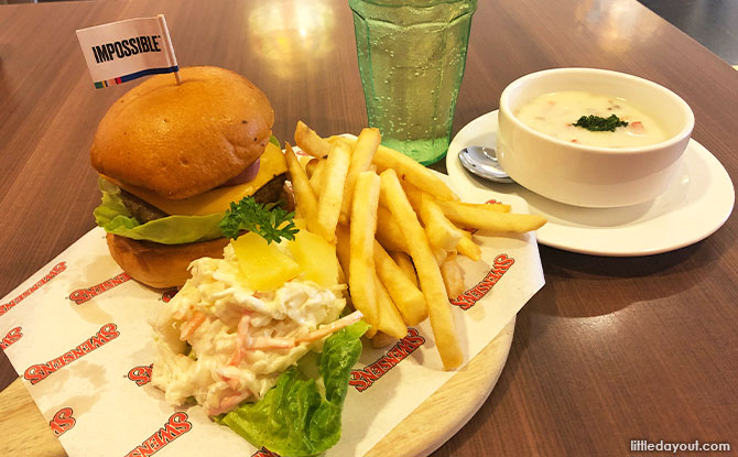 Swensen's Collaborates With HSBC To Bring Go Green Swensen's Impossible Burger Set