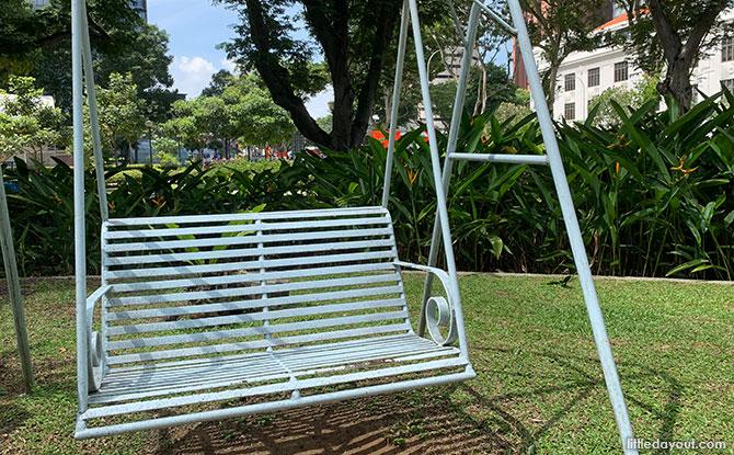 Swings at Telok Ayer Park