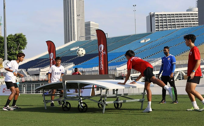 Play Teqball, A Cross Of Football & Table Tennis, At Selected ActiveSG Sport Centres