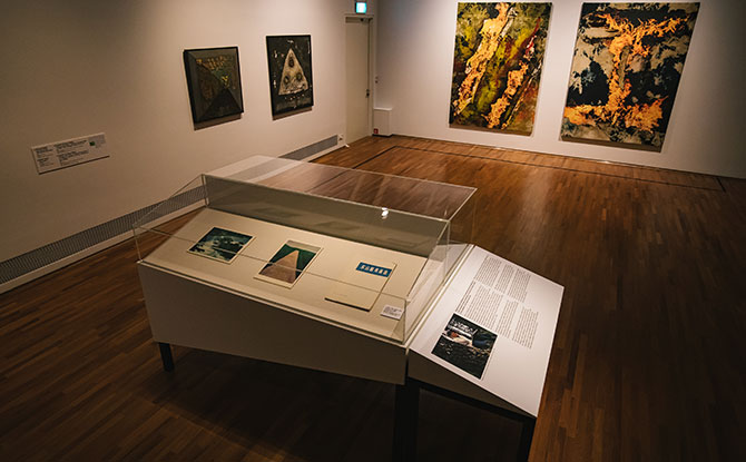 Installation view of _The Gift_ exhibition