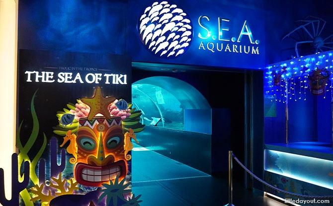 The Sea of Tiki - S.E.A. Aquarium entrance