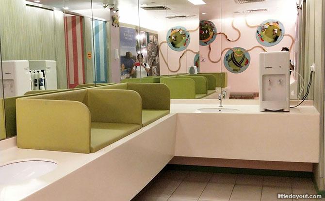 Diaper Changing Area, United Square Nursing Room