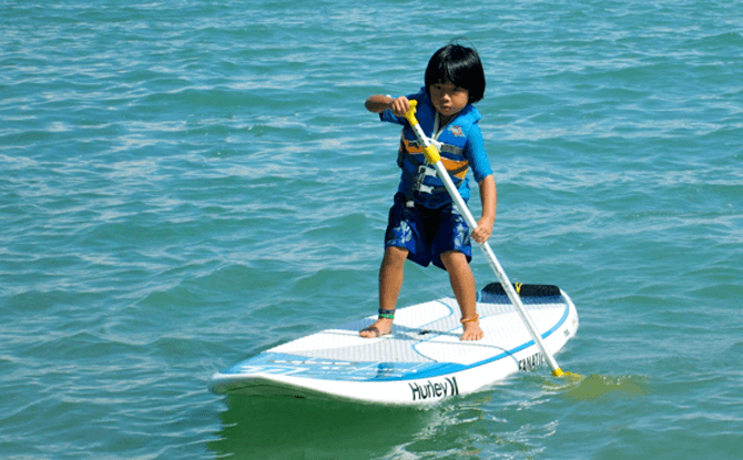Stand Up Paddling with Kids